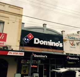 Commercial Signage Solutions - Dominos Terrigal - Signtek NSW PTY LTD