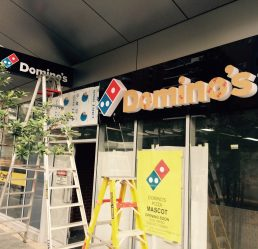 Commercial Signage - Dominos Terrigal - Signtek NSW PTY LTD